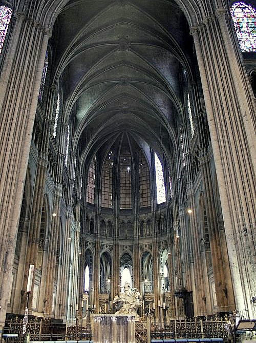 gallery for chartres cathedral interior choir