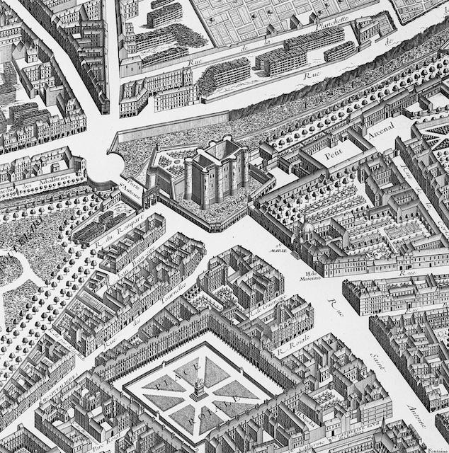 the bastille paris map