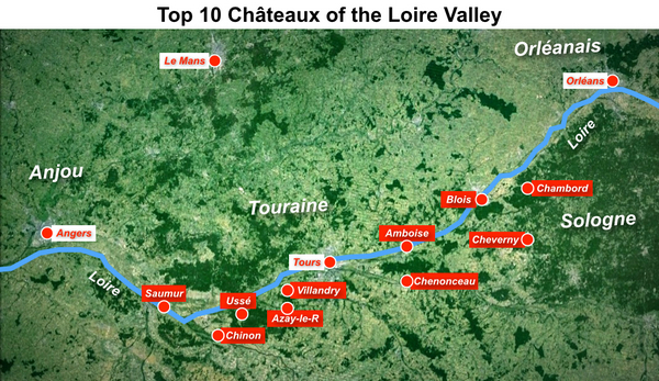 Топ 10 лучших замков Луары