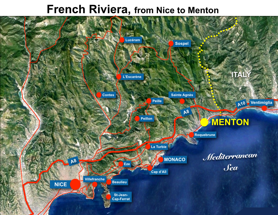 French Riviera Menton Map Hr French Moments